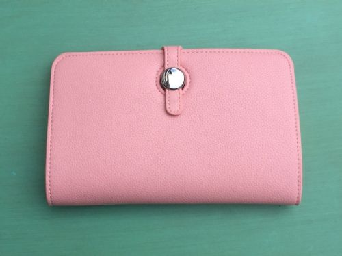 Faux Leather Dogon Style Wallet - Pale Pink